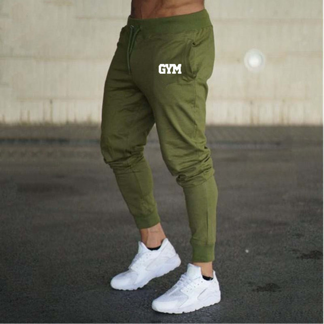 2019 GYMS New Men Joggers Brand Male Trousers Casual Pants Sweatpants Jogger grey Casual Elastic cotton Fitness Workout pan 2