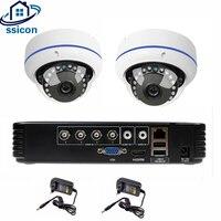 SSICON 4CH цифровой видеорегистратор, система cctv 2 шт камеры рыбий глаз 2CH 2.0MP инфракрасная камера системы безопасности 1080 P HDMI аналоговая камера