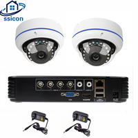 SSICON 4CH DVR CCTV System 2PCS Fisheye Cameras 2CH 2.0MP IR Security Camera 1080P HDMI AHD CCTV DVR 1200TVL Surveillance Kit
