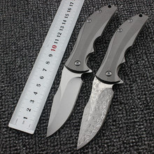 ZT0606 folding knife 0606CF D2/Damascus blade TC4 Titanium alloy handle pocket knife ball bearing outdoor camping EDC knife