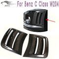 For Benz C Class W204 Carbon Fiber Side Air Fenders Vents Fnder Cover Trims For C63 AMG Bumper 2008 2009 2010 2011