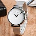 Модные Женщины Наручные Часы Современные Стальные Сетки Кварцевые часы Женщин Простой Элегантный Белый Циферблат Часы Повседневная Часы