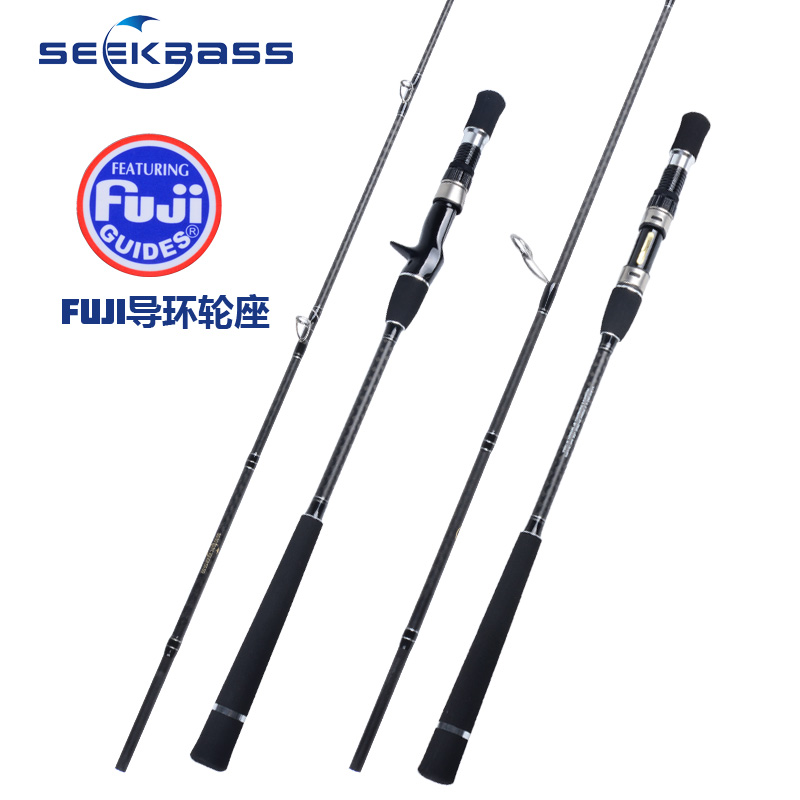 SEEKBASS Japan Full Fuji Parts New Slow Jigging Rod 1 93M 6 39 3 39 39 15kgs PE1 5 3 Lure 80 280g Spinning Casting Ocean Fishing Rod in Fishing Rods from Sports amp Entertainment