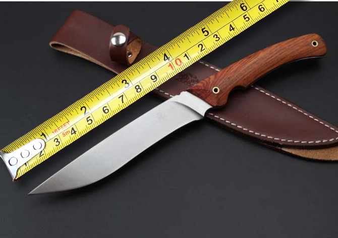 Wild Boar Hunting Survival Fixed Knives,7CR17Mov Blade Red Sandalwood Handle Tactical Knife,Survival Knife. цены