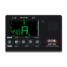Aroma AMT-560 Metronome Tuner Tone Generator Big Screen Foldable Metal Holder Chromatic Tuner for Guitar Bass Violin Ukulele