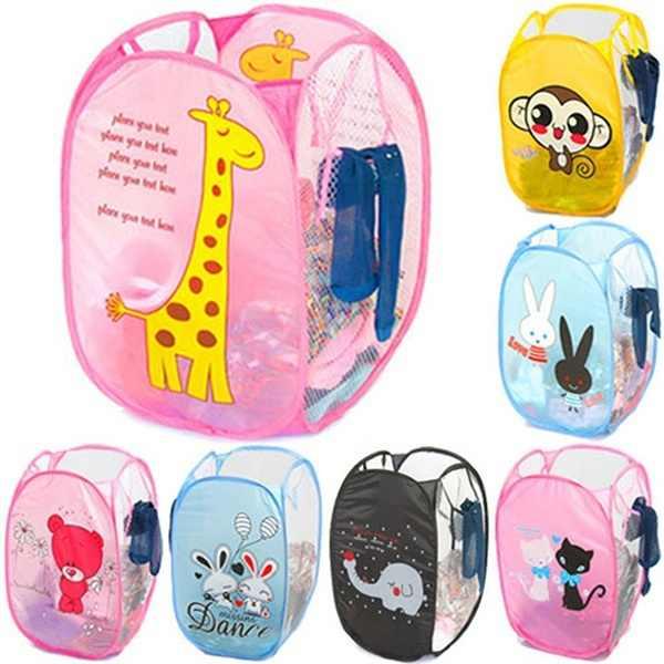 Falten Mesh Kleidung Waschen Wäsche Korb kinder Spielzeug Kleinigkeiten Lagerung Box