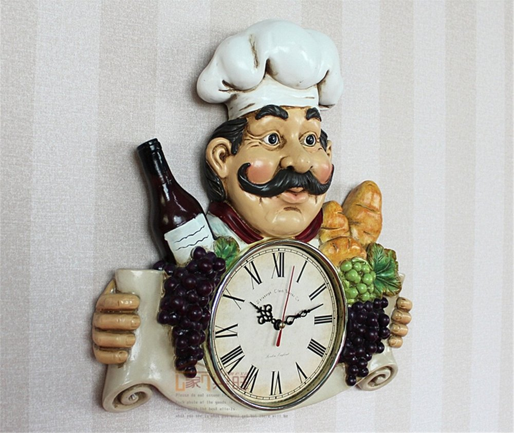 Aliexpress buy chef wine resin handicraft wall clock for aliexpress buy chef wine resin handicraft wall clock for cafe restaurant from reliable wall clock suppliers on kiso home garden coltd amipublicfo Images