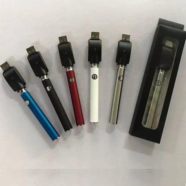 E Sigarette di Preriscaldamento Batteria 350 mah Tensione Variabile Rapido Preriscaldamento LO Batteria per Atomizzatori cartuccia CBD touch vape aperto