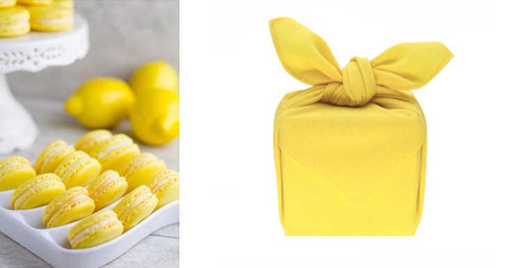 Macaron cor sólida Furoshiki poliéster 100%/Big lenço Japão Tradição clássica 45 cm/Muitos Usos