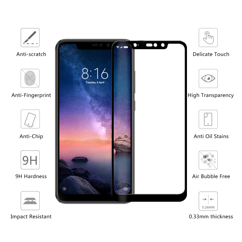 Nicotd Tempered Glass For Xiaomi Redmi Note 6 Pro 4X 4A 5A 5 Plus Screen Protector For Redmi 6A 6 Note 5A 5 Pro Full Cover Film (9)