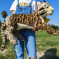 National Geographic 55CM Realistic Stuffed Animals Toy Leopard Plush Cheetah for Children's Birthday Gifts