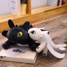 3 1 Pcs Kawaii 2019 How To Train Your Dragon Plush Toy 35 centímetros Desdentado Fúria da Luz/Noite Fúria stuffed Boneca Presente(China)