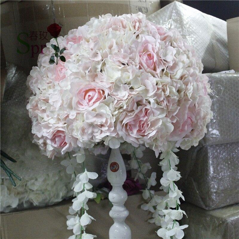SPR Free shipping 10pcs lot wedding road lead artificial flower mat flower ball wedding table flowers