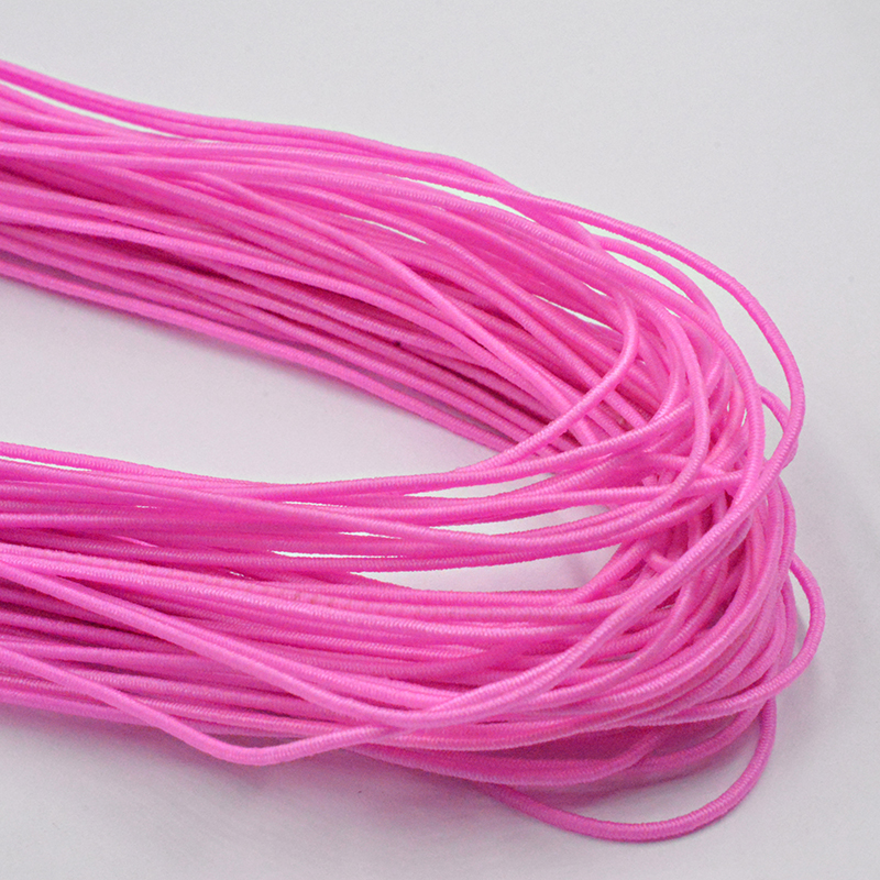Новинка 0,8 мм на выбор, 12 цветов, эластичная веревка, шнур, бисер, сделай сам, для изготовления ювелирных изделий, браслет и ожерелье - Цвет: Розово-красный