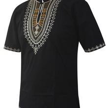 Dashikiage men African clothes africain Tops afrique Short Sleeved Caftan Shirt