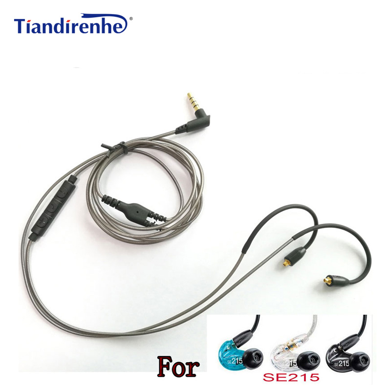 MMCX Cable for Shure SE215 SE315 SE535 SE846 Earphones Headphone Cables Cord With Mic Volume Control for xiaomi iphone Android