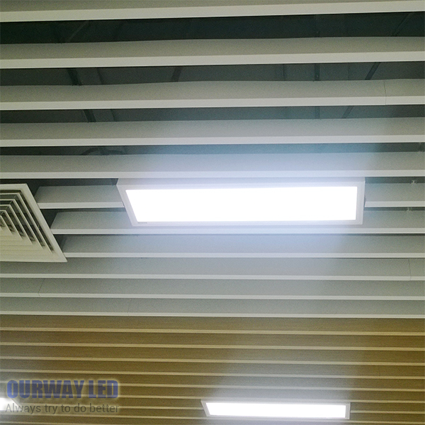 Large illumination area UL panel light 4'x1' 1200x300mm, Hanging,Recessed,Wall surface mounting No gare soft flat light usb3 0 round type panel mounting usb connecter silver surface