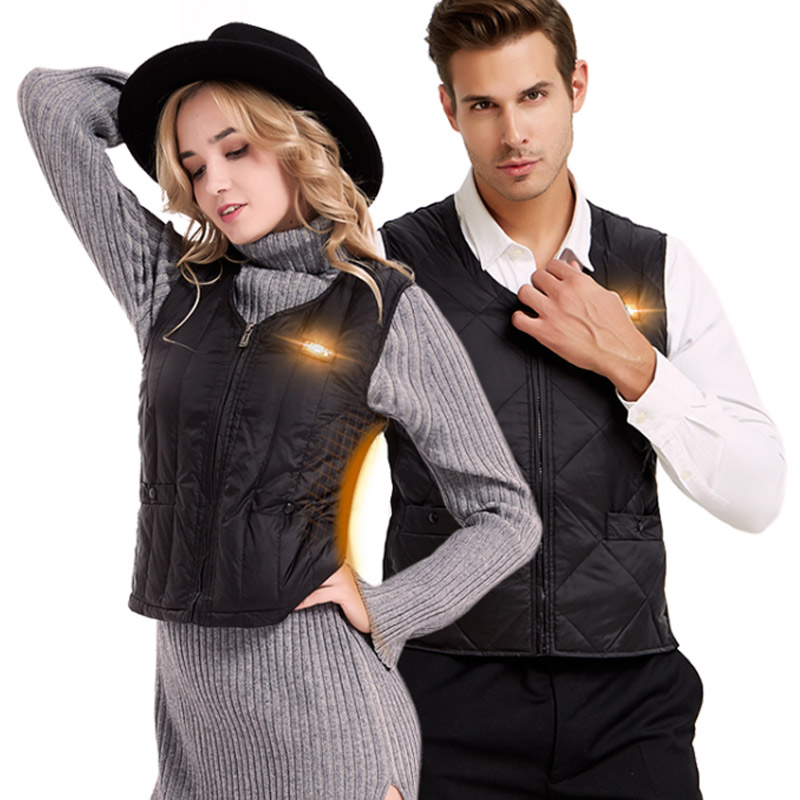 USB Infrared Heating Vest Down Jacket Men Women Outdoor Winter Smart Electric Thermal Clothing Waistcoat Unisex Plus Size S-4XLUSB Infrared Heating Vest Down Jacket Men Women Outdoor Winter Smart Electric Thermal Clothing Waistcoat Unisex Plus Size S-4XL
