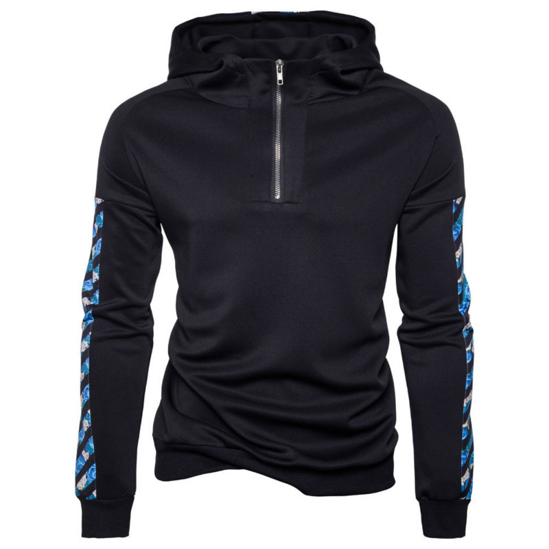 Mens Autumn Winter New Casual Hooded Zipper Long Sleeve Coat Pullover Fashion Hoodie Hoodies For Men Male Tops