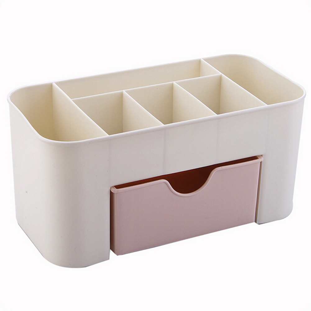 Cosmetic Jewelry Organizer Office Storage Drawer Case Plastic Makeup Brush Box Lipstick Remote Control Holder Random Color