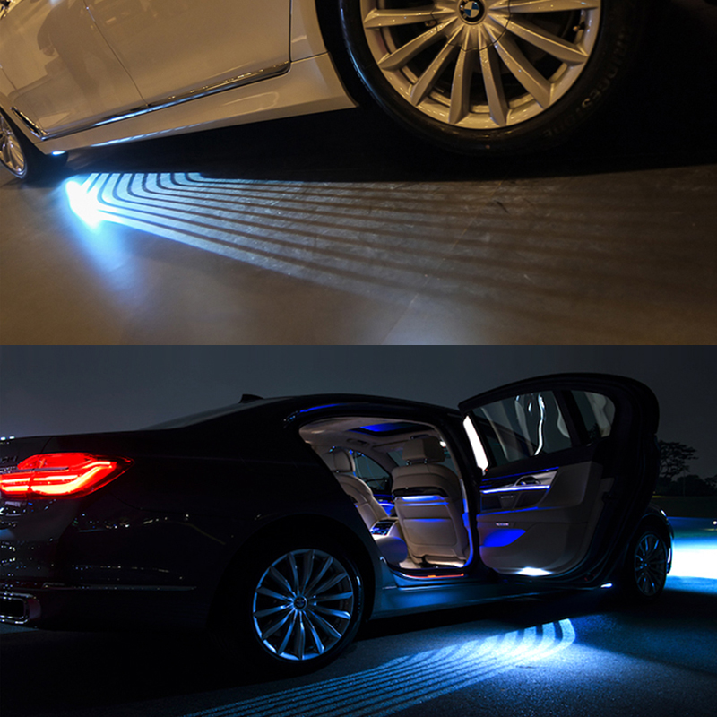 OKEEN White/RGB Car Angel Wings lights LED Door welcome light Projector Light Ghost Shadow Puddle carpet led underglow for cars sunset horseman gobo door led projector light welcome lamp cree q5 ultra bright puddle light for lincoln corvette vw dodge 1527