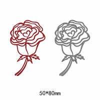 Розы Цветы Листья Металл для стального тиснения ремесло DIY трафарет для резки металла Скрапбукинг высечки машины бумажные карты