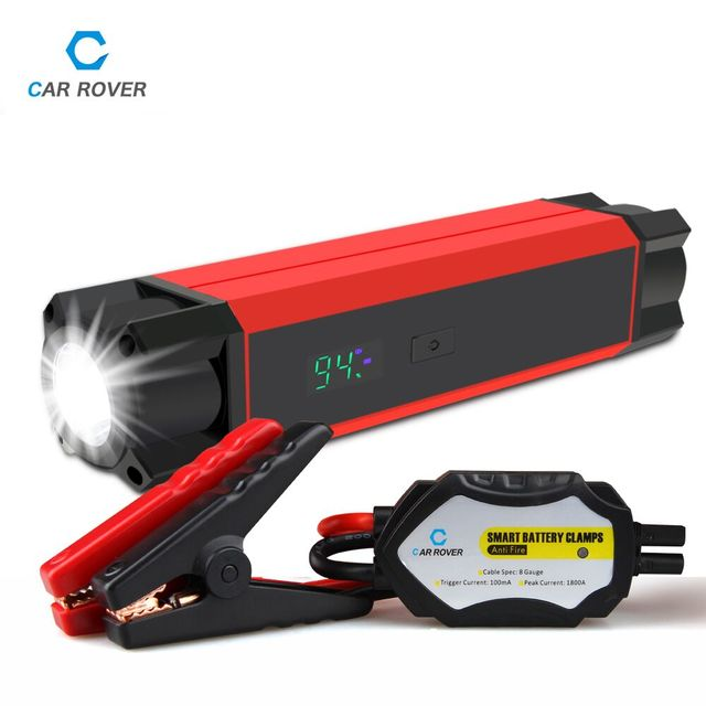 Car Jump Starter Diesel Petrol Auto Power Bank Booster Start Jumper Battery 1000A Peak Current 54000mWh with Smart Power Clamp