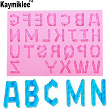 M944 Uppercase Letters Silicone Cake Mold Chocolate Ice Decorating Silicone Mold Baking Fondant Candy Sugar Craft Cake Tools grape food grade silicone diy candy ice cake chocolate sugar craft fondant sugar craft mold tray decorating tools non stick