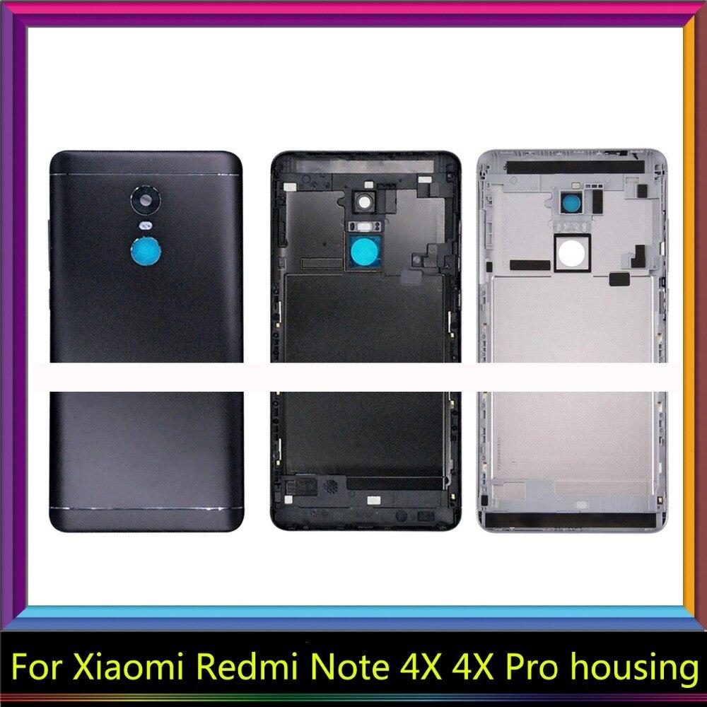 Pour Xiaomi Redmi Note 4X32 GB cas Logement de téléphone Pièces De Rechange métal retour Batterie Couvercle Du Boîtier pour Redmi Note 4X pro 64 GB
