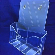 Прозрачный A4 одиночный Карманный пластиковый держатель для брошюр, книг, витрины, стойки для вставки листовок на рабочий стол