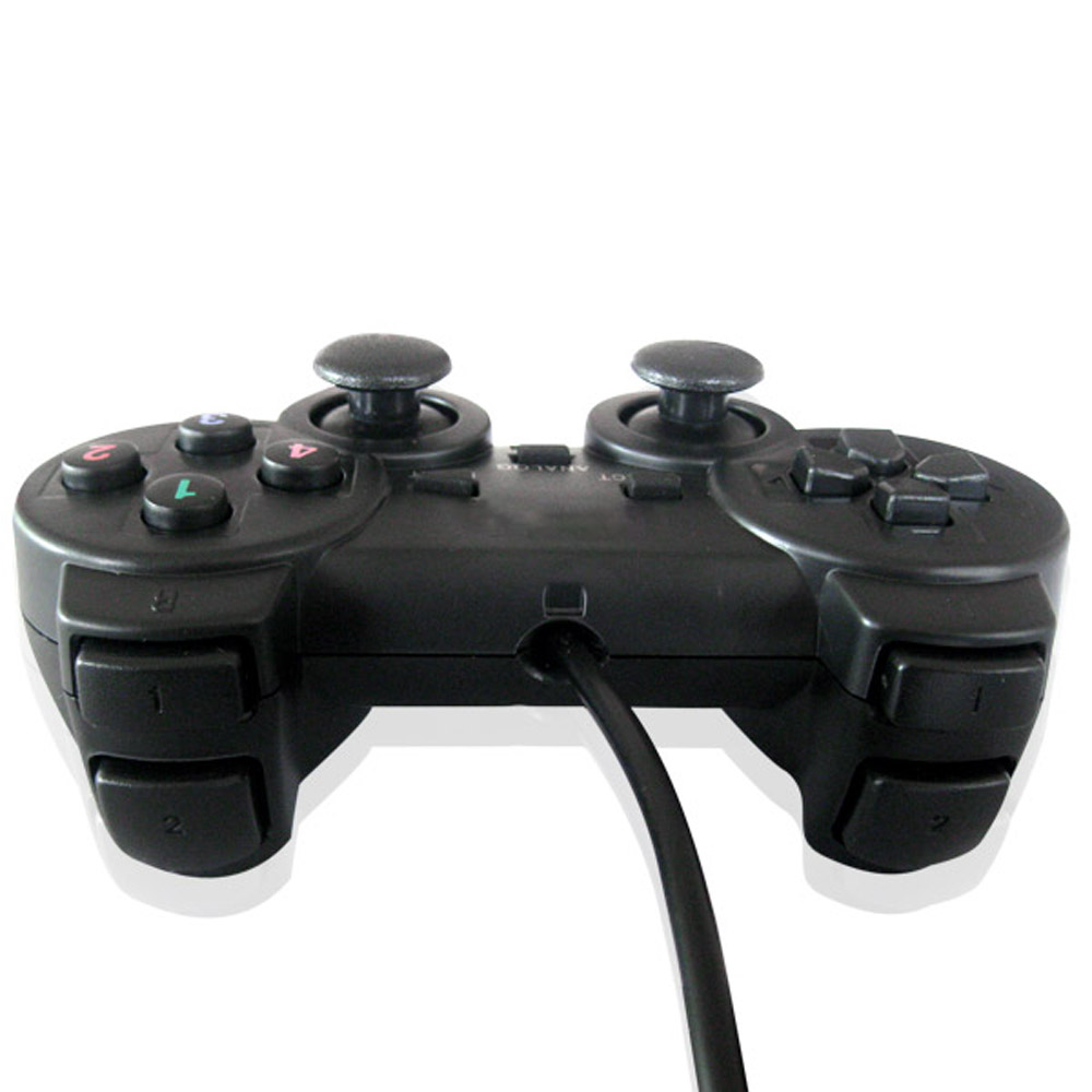 US $6 98 |USB Wired PC Game Controller Gamepad Shock Vibration Joystick  Game Pad Joypad Control for PC Computer Laptop Gaming Play-in Gamepads from