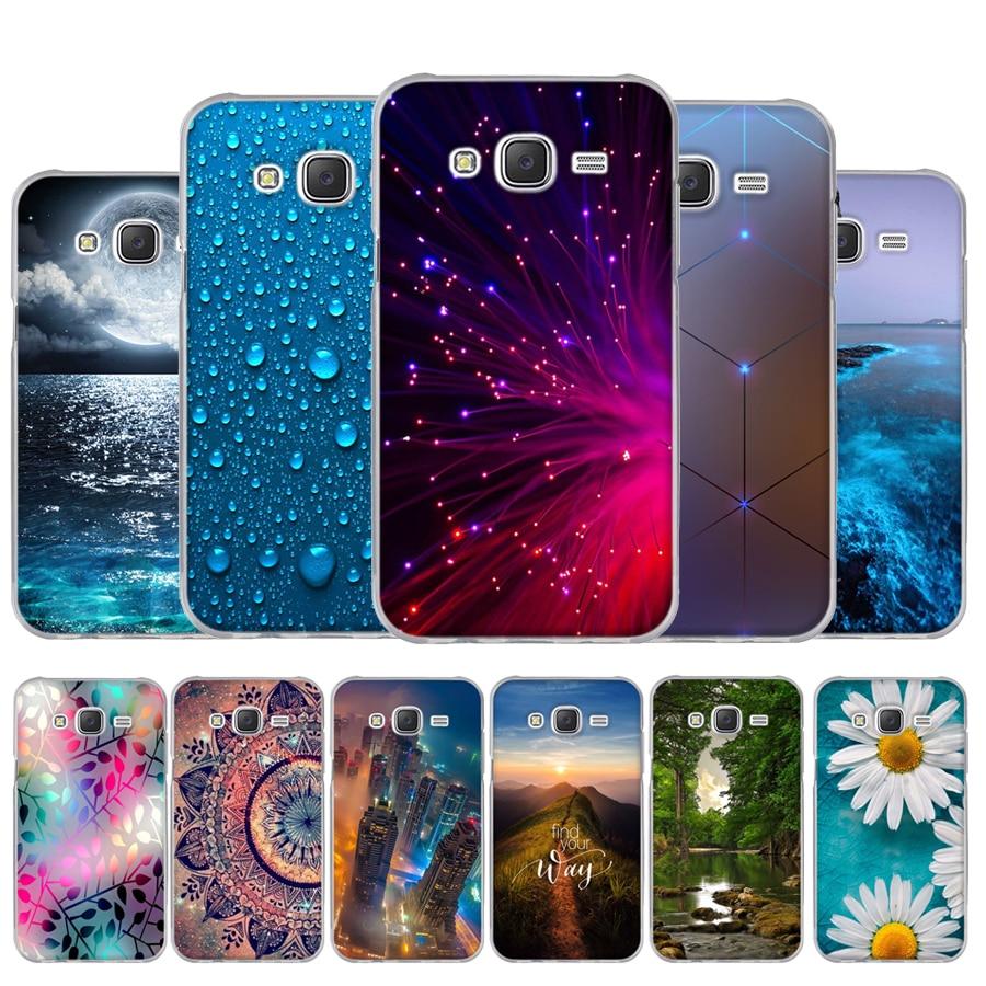 Phone-Case Cover Flower J500F Samsung J5 Silicone for Capa Funda TPU Soft