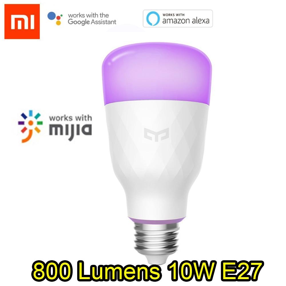 [ English Version ] Xiaomi Yeelight Smart LED Bulb Colorful 800 Lumens 10W E27 Lemon Smart Lamp For Mi Home App RGB Option