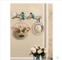American style decorative key hook, wall hanging bird crafts, wall decoration hanger