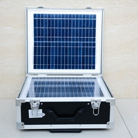 500W Solar System for Outdoor Use with Continuous 500W Pure Sine Wave Inverter LCD Display with 2pcs Bulb Lights