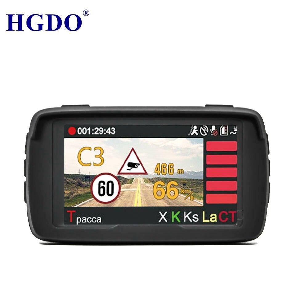 La russie Voix Anti Laser Radar Détecteur 3 dans 1 Auto Voiture DVR Véhicule Caméra Full HD 1080 p Caméscope Intégré GPS Dash cam Logger