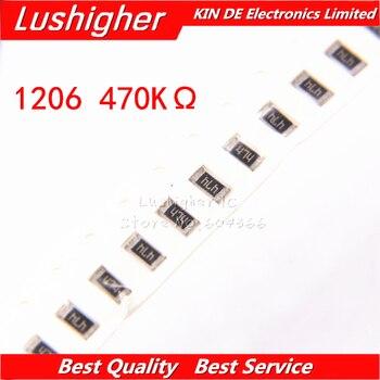 100 шт 1206 SMD резистор 1% 470K Ом 474 470 ком