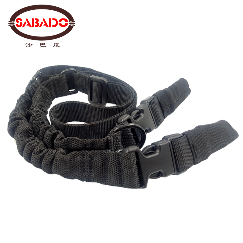 Outdoor Camping Gun Belt Sling Multifunctional Strap Elastic Gear 2 Point Airsoft Hunting Belt Rope Tactical Military Gun Slings in Hunting Gun Accessories from Sports Entertainment