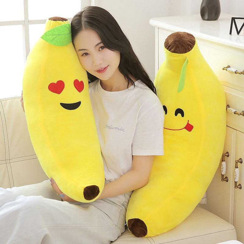 Lovely Fruit Banana Pillow Cushions Head Cushion Pillow Plush Toys 35cm//45cm