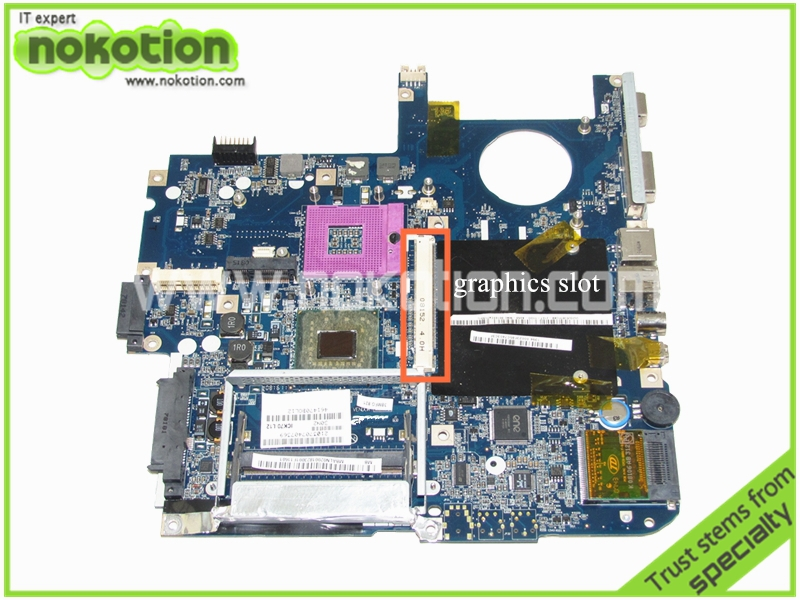 MBALN02001 ICL50 LA-3551P Laptop motherboard for Acer aspire 7320 7720 with graphics slot Mainboard