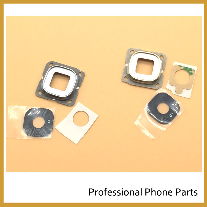 Golden/Gray New Original Back Rear Camera Glass Lens For Samsung Galaxy C5 C7 Replacement  Parts