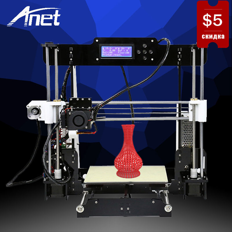 Anet A8 3D Printer Prusa i3 RepRap DIY Kit Easy Assembly High Precision Printer Hot Bed LCD Screen 8GB SD Card Moscow Warehouse все цены