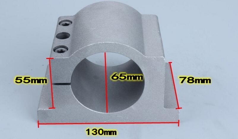 65mm diameter cast aluminium bracket for CNC engraving milling machine spindle [randomtext category=