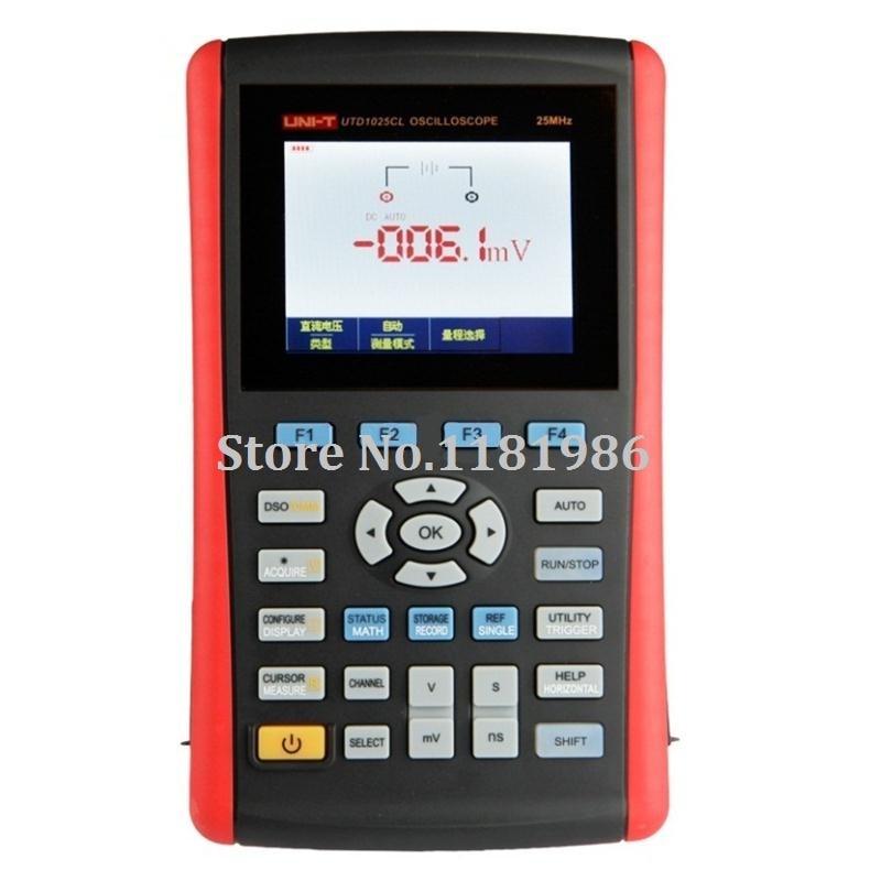 UNI T UTD1025CL Scopemeter Handheld Digital USB Oscilloscopes 3.5 Color LCD Digital Multimeter Oscilloscope Scope meters