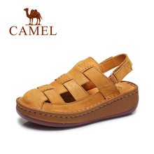 Camel 2016 summer new fashion fisherman women sandals closed-toe hollow muffin leather sandals