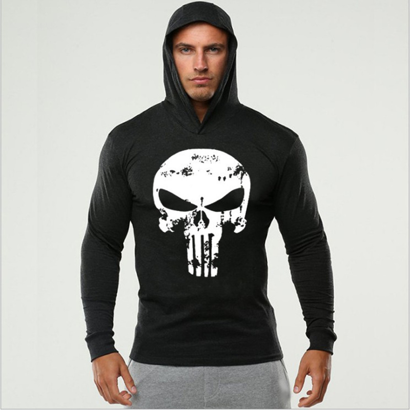 4style The Punisher Cosplay Costumes Spring Autumn Skull Hoodie Tank Top Daredevil Sweatshirts Cotton Hooded Clothes