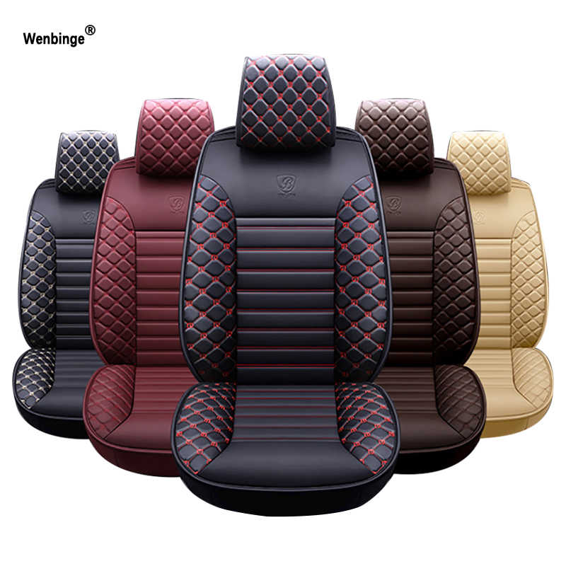 Wenbinge специальный кожаный автомобиль чехлы для subaru forester impreza xv 2017 outback аксессуары Чехлы для сидения автомобиля авто