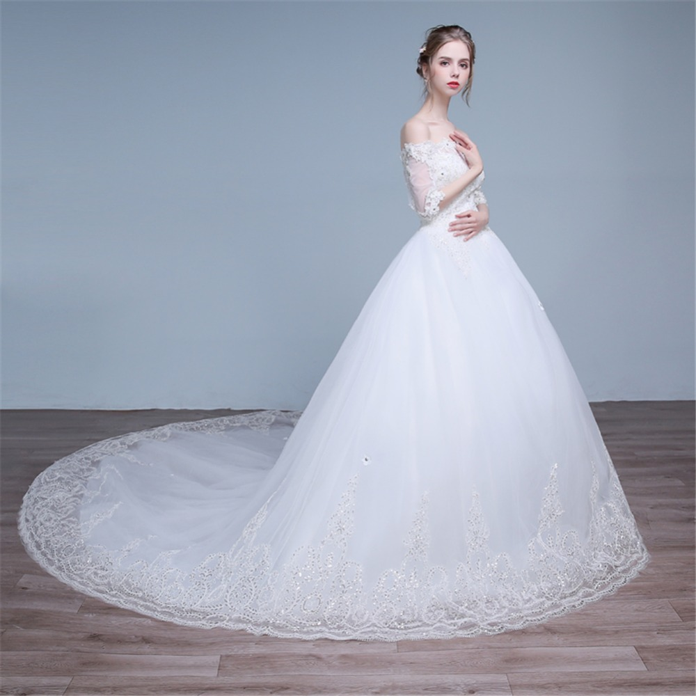 ruthshen 2018 Real Photo Princess Ball Gown Wedding Dresses Bling ...