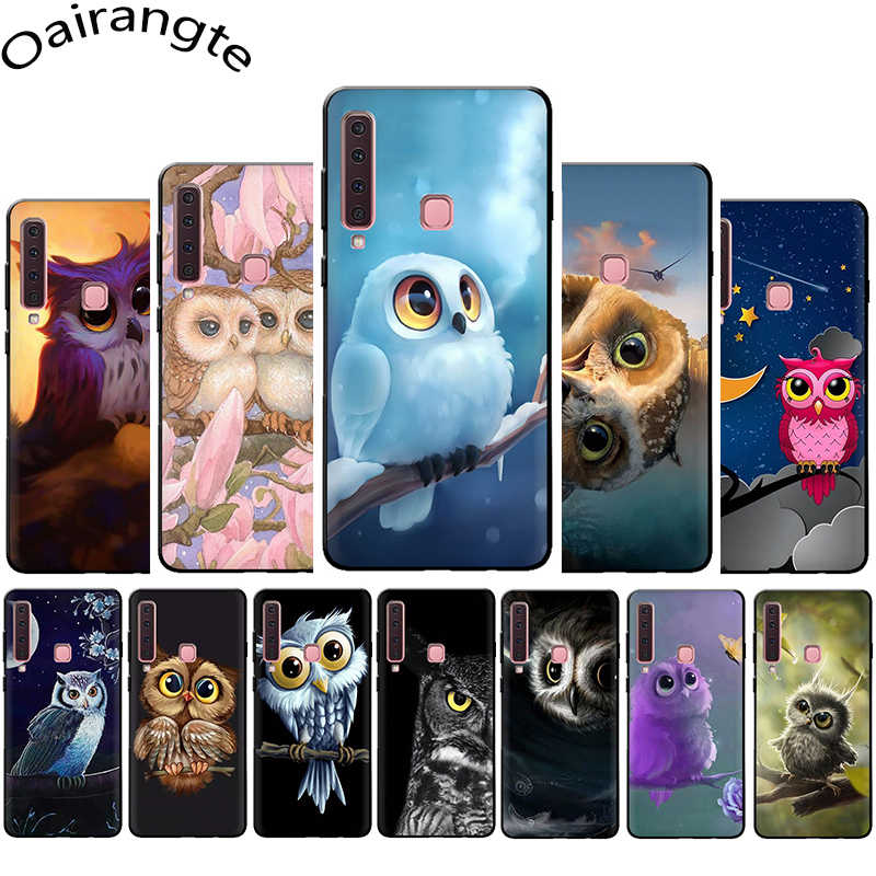 Animal Owl on the tree silicone phone case for Samsung A3 A5 A6 Plus A7 A8 A9 A10s 20s 30s 40s 50s 70 J6