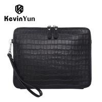 KEVIN YUN Fashion Luxury Genuine Leather Men Bag Brand Business Male Clutch Bags Handbag